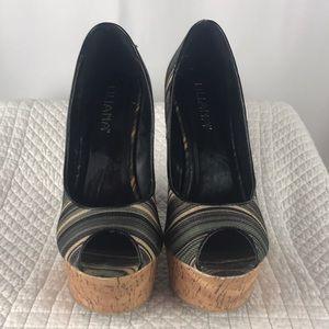 Liliana wedge platforms heels.